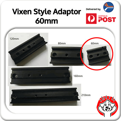 1/4 Inch (1/4″) 60mm Vixen Style Dovetail Bar / Plate