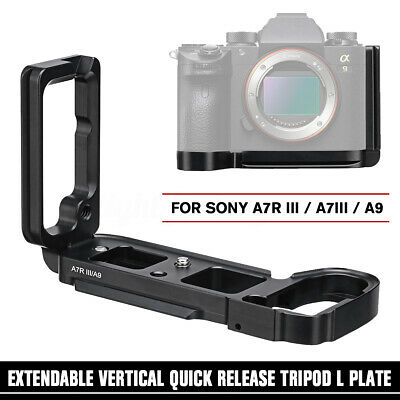 🔥 Vertical L-Plate Bracket Quick Release Hand Grip For Sony A7R III A7III A9