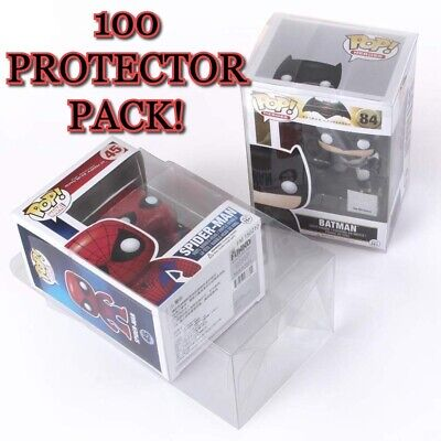 100 Clear Plastic Protector Cases for Funko Pop 4 inch Vinyl Figures Acid Free