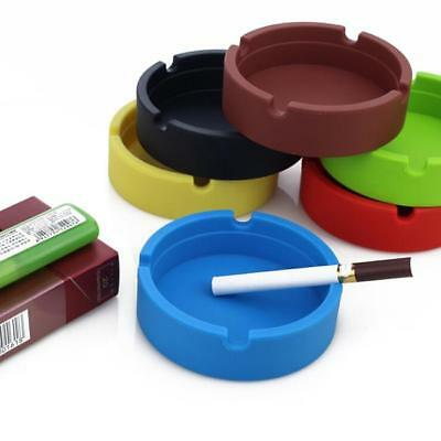 Silicone Round Ashtray Heat Resistant Portable Camouflage Ashtray Container C