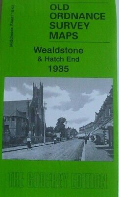 Old Ordnance Survey Maps Wealdstone & Hatch End 1935 Godfrey Edition Discount