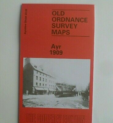 Old Ordnance Survey Maps Ayr 1909 Ayrshire  Godfrey Edition Discount Price