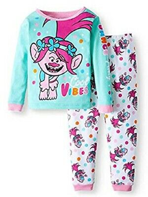 NWT Girls Size 4T Dreamworks Trolls Cool Vibes Pajamas NEW
