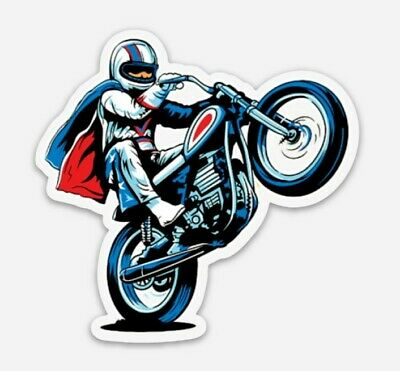 Evel Knievel Die Cut Vinyl Sticker Decal Stuntman #1