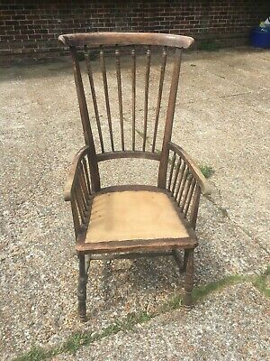 Victorian Edwardian Antique Fireside Windsor-style Chair for Restoration Project