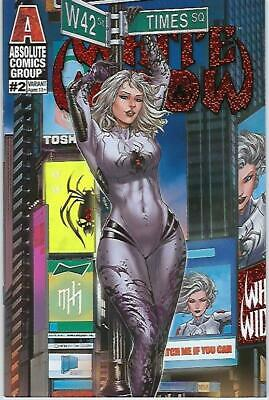 White Widow # 2 Mike Krome Times Square Suit Foil Variant Cover Edition !!  Nm
