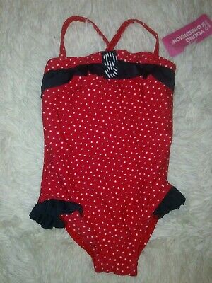 Bnwt Primark Young Dimension Red & white Spotted Swimsuit size 18-24 Months