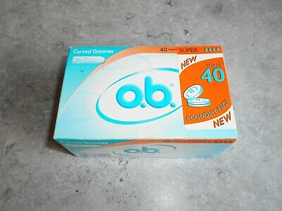 Lot De 40 Tampons O.b. - [ Super ] - Curved Grooves
