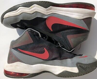 Nike 2015 Air Max Audacity Basketball Shoes Mens Gray Red & Grey Size 9.5 Adult