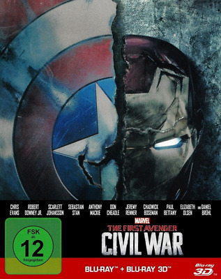 The First Avenger: Civil War 3D (Limited Steelbook Edition) Blu-ray 3D neuwertig