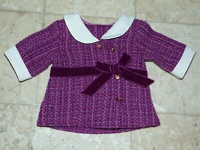 New Coat Jacket Beforever Meet Outfit Rebecca American Girl Doll Purple White