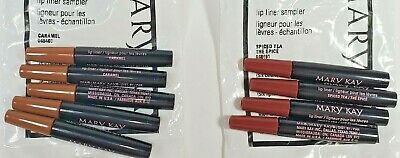 Mary Kay - Lip Liner Samplers Lot of 9 - Caramel and Spiced Tea - NEW