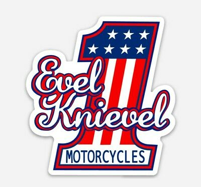 Evel Knievel Logo Die Cut Vinyl Sticker Decal Stuntman #1