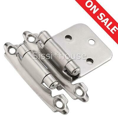 Self Closing Flush Mount Overlay Kitchen Cabinet Hinges Door Cupboard Hinge AU