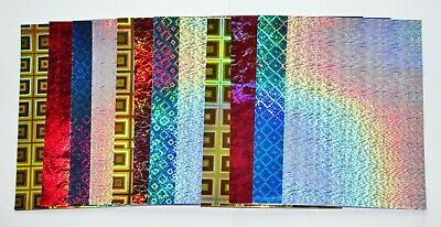 16 Sheets Holographic Craft Card Mats Silver Red Blue Gold Christmas Crafts