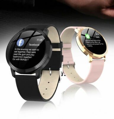 Bluetooth Smart Watch Fitness Tracker Blood Pressure Heart Rate Tempered Mirror