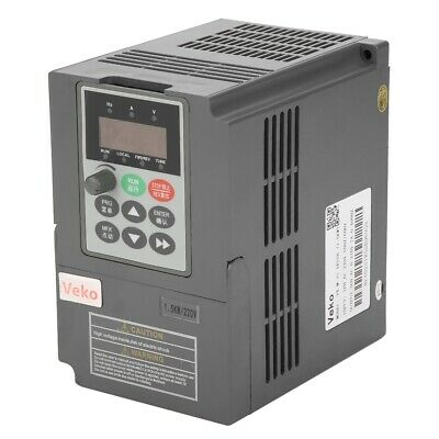 VFD Frequency Inverter Converter 1.5kW 2HP Vector Type 1-Phase 220V to 3-Phase