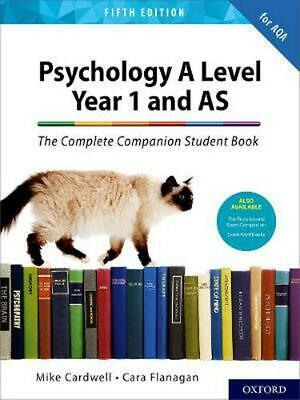 Complete Companions for AQA A Level Psychology 5th Edition: by Mike Cardwell (En