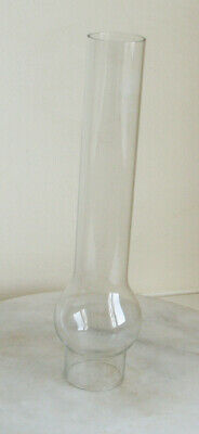 Clear Glass Oil Lamp Chimney (replacement  Glass) 26.3cm Tall - Griffin Brand .
