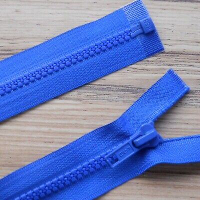 """ROYAL BLUE CHUNKY PLASTIC OPEN END ZIP -30"""" / 76 CM BEST QUALITY (No 5 weight)"""