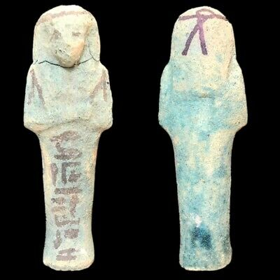 EGYPTIAN HIEROGLYPHIC SHABTI, LATE PERIOD 664 - 332 BC (4) Large Over 10 cm !!!!