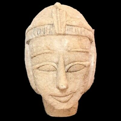 EGYPTIAN PHAROAH BUST STATUE, LATE PERIOD 664 - 332 BC (1) Large Over 13 Cm