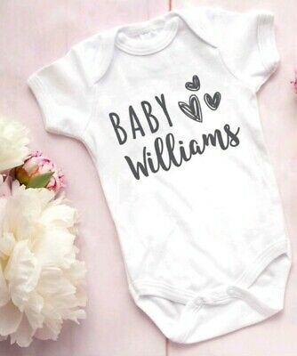 Pregnancy announcement New baby Vest Grow Bodysuit personalised
