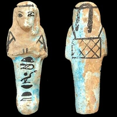 EGYPTIAN HIEROGLYPHIC SHABTI, LATE PERIOD 664 - 332 BC (5) Large Over 9 cm !!!!