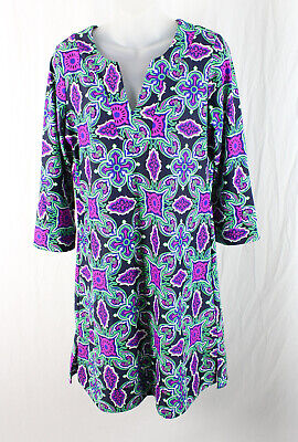 Jude Connally NWT Women's Navy Green Magenta Print Dress Size M $198