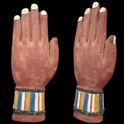 Beautiful Ancient Life-Size Egyptian Wooden Hand Artefact 300 Bc (1)