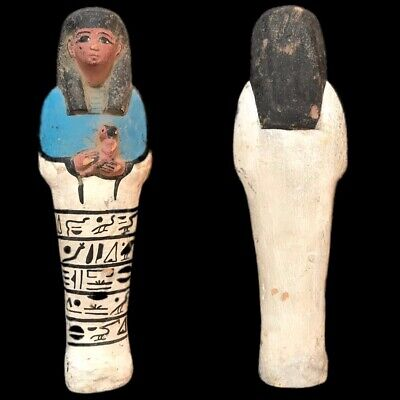 EGYPTIAN HIEROGLYPHIC SHABTI, LATE PERIOD 664 - 332 BC (7) Large Over 18 cm !!!!