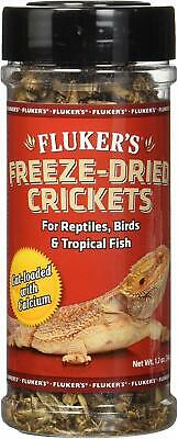 Fluker's Dried Crickets 1.2 Oz Reptile Bird Tropical Fish. Free Ship In The Usa