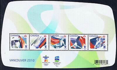 "Canada #2299) 2011 ""P"" $2.70 OLYMPIC SPORTING EVENTS SOUVENIR SHEET MNH"