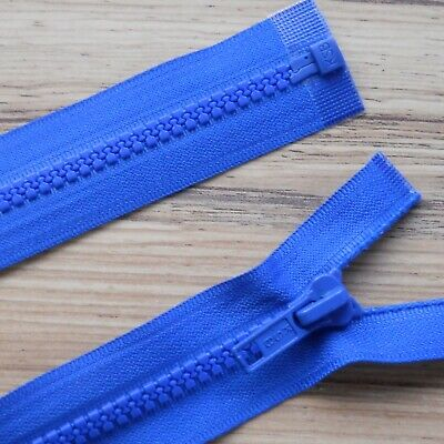 """ROYAL BLUE CHUNKY PLASTIC OPEN END ZIP -26""""/ 66 CM BEST QUALITY (No 5 weight)"""