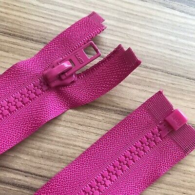 """HOT PINK CHUNKY PLASTIC OPEN END ZIP -24""""/ 61 CM BEST QUALITY (No 5 weight)"""
