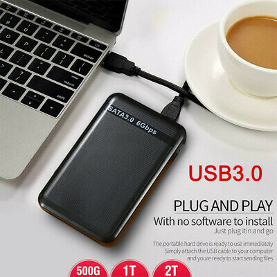 USB 3.0 Port 2TB 1TB 500GB External Hard Drive Disk HDD 2.5'' Fit For PC Laptop