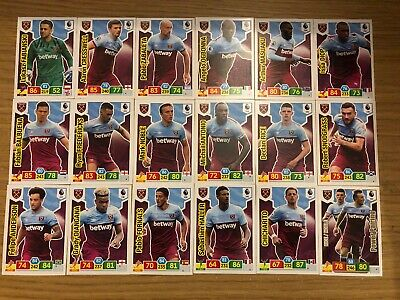 Panini Premier League 2019/20 Full Team Set Of All 18 West Ham United Cards Mint