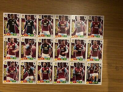 Panini Premier League 2019/20 Full Team Set Of All 18 Aston Villa Cards Mint