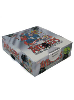 2015 Marvel Avengers Silver Age Trading Cards Sample Box Sealed