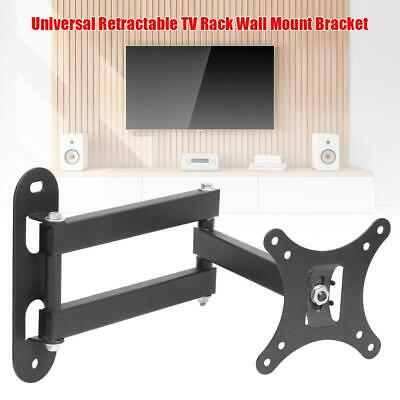 Universal Retractable TV Rack Wall Mount Bracket 17 to 32 inch LCD Monitor Stand