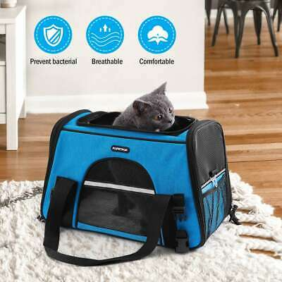 POPETPOP Pet Carrier Airline Approved Dog Travel Bag Premium Under Seat for Cats