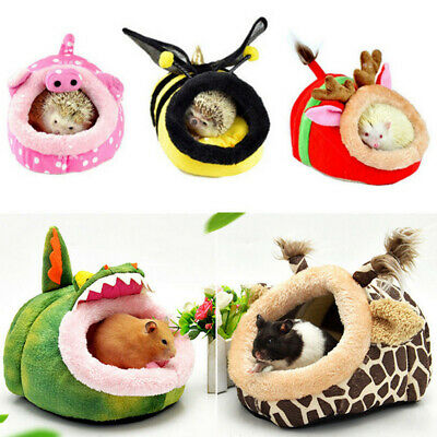 Pet Warm Guinea Pig Bed House Small Animal Hamster Rat Hammock Nest Pad S-XL