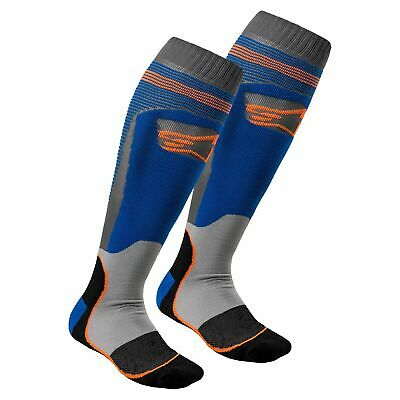 Alpinestars Mx Plus-1 Mens Underwear Boot Socks - Blue Fluo Orange All Sizes