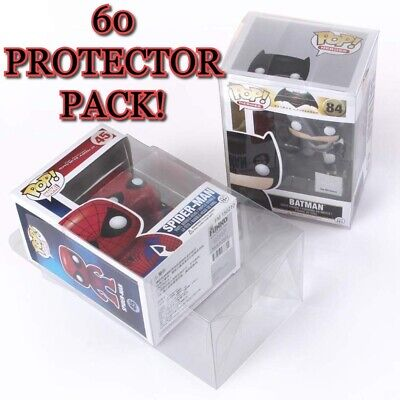 60 Clear Plastic Protector Cases for Funko Pop 4 inch Vinyl Figures Acid Free