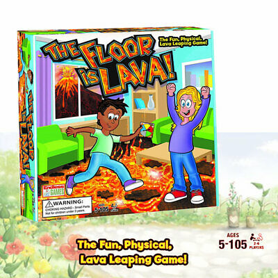 The Floor is Lava! Interactive Board Game for Kids and Adults Fun (Ages 5+) NEW