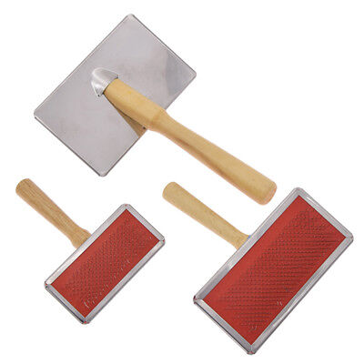 Three Size Sheep Wool Blending Carding Combs Hand Carder Felting Preparation Fad