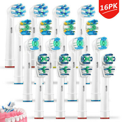 16PCS Electric Toothbrush Heads Compatible With For Oral B Braun Toothbrush Head