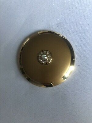 Vintage Round Make Up Compact Gold