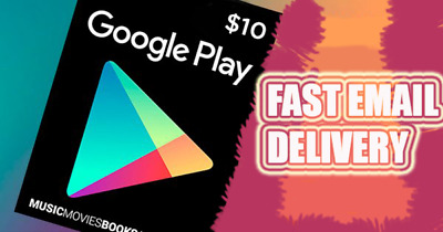 Google Play Gift Card 10 $ Fast Delivery