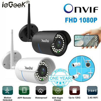 1080P HD WiFi IP Camera Wireless Outdoor CCTV Cam Night Vision Home Security UK